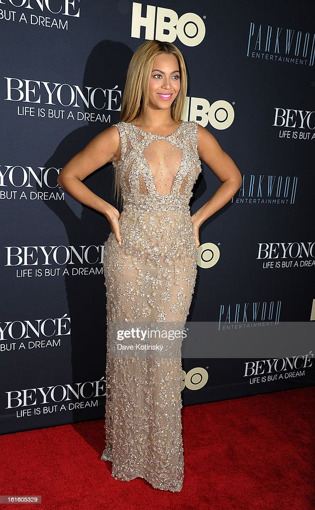 Beyonce Knowles attends 'Beyonce: Life Is But A Dream' New York Premiere at Ziegfeld Theater on February 12, 2013 in New York City.
