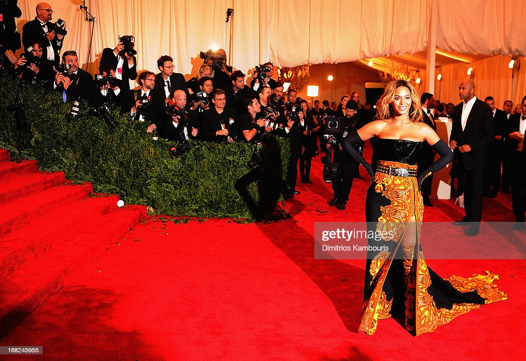 Beyonce Knowles attends the 2013 Costume Institute Gala -