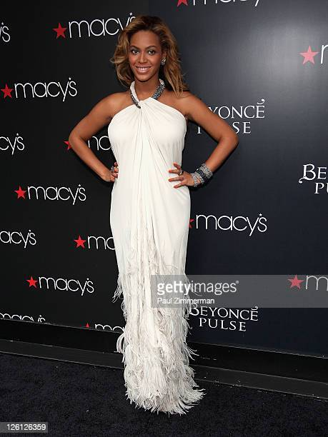 Beyonce Knowles attends the Beyonce Knowles Pulse fragrance launch at Macy's Herald Square on September 22 2011 in New York City