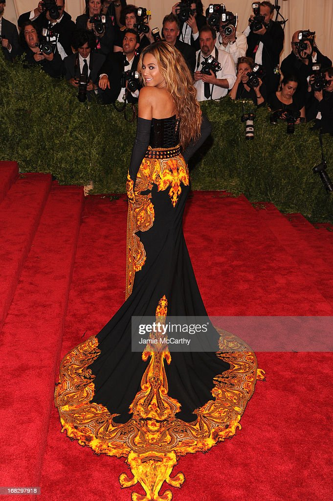 Beyonce Knowles attends the Costume Institute Gala for the 'PUNK: Chaos to Couture' exhibition at the Metropolitan Museum of Art on May 6, 2013 in New York City.