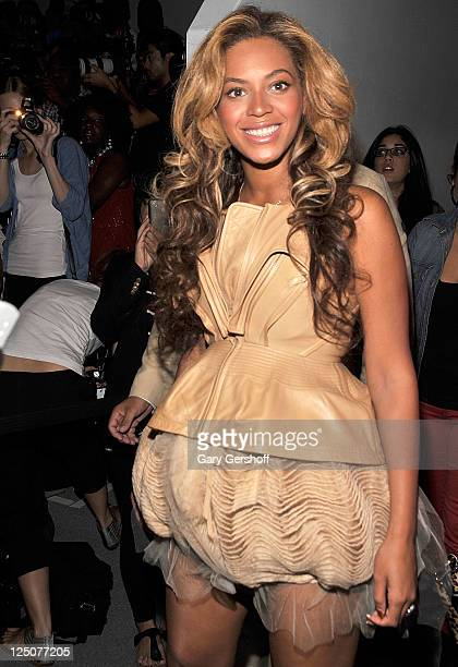 Beyonce Knowles attends the Vera Wang Spring 2012 fashion show during MercedesBenz Fashion Week at The Stage at Lincoln Center on September 13 2011...
