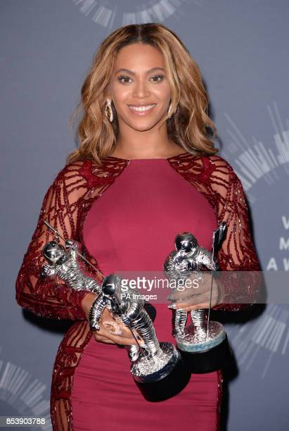 Beyonce Knowles backstage in the MTV Video Music Awards 2014 Press Room at the MTV Video Music Awards 2014 at The Forum in Inglewood Los Angeles