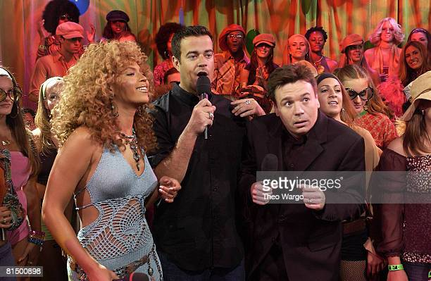 Beyonce Knowles Carson Daly and Mike Myers