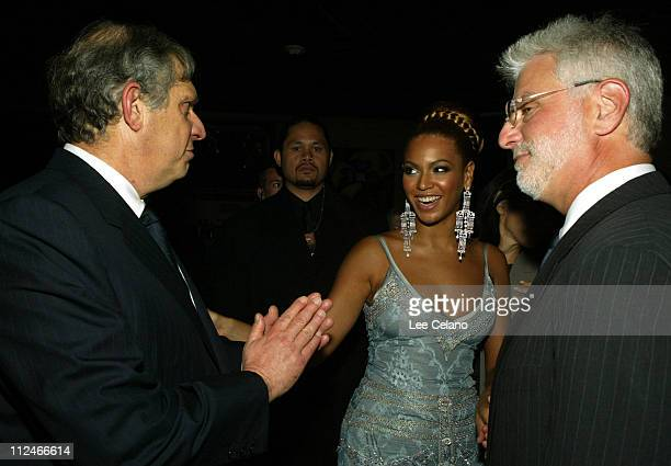 Beyonce Knowles center with Viacom Chairman John Dolgen left and Paramount ViceChairman Rob Friedman