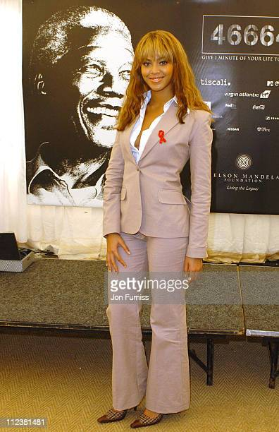 Beyonce Knowles during '46664 Give 1 Minute Of Your Life To AIDS' Concert Press Room at Greenpoint Stadium in Cape Town Western Cape South Africa