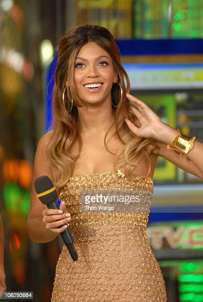 Beyonce Knowles during Beyonce Knowles Visits MTV TRL's 'Back to School Week' September 5 2006 at MTV Studios in New York City New York United States