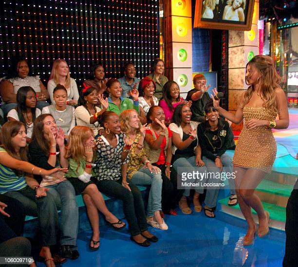 Beyonce Knowles during Beyonce Visits MTV's 'TRL' September 5 2006 at MTV Studios Times Square in New York City New York United States
