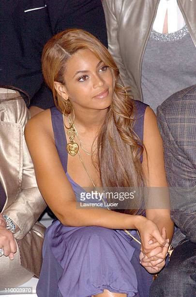 Beyonce Knowles during Olympus Fashion Week Fall 2005 Marc Jacobs Arrivals and Front Row at NY State Armory in New York City New York United States