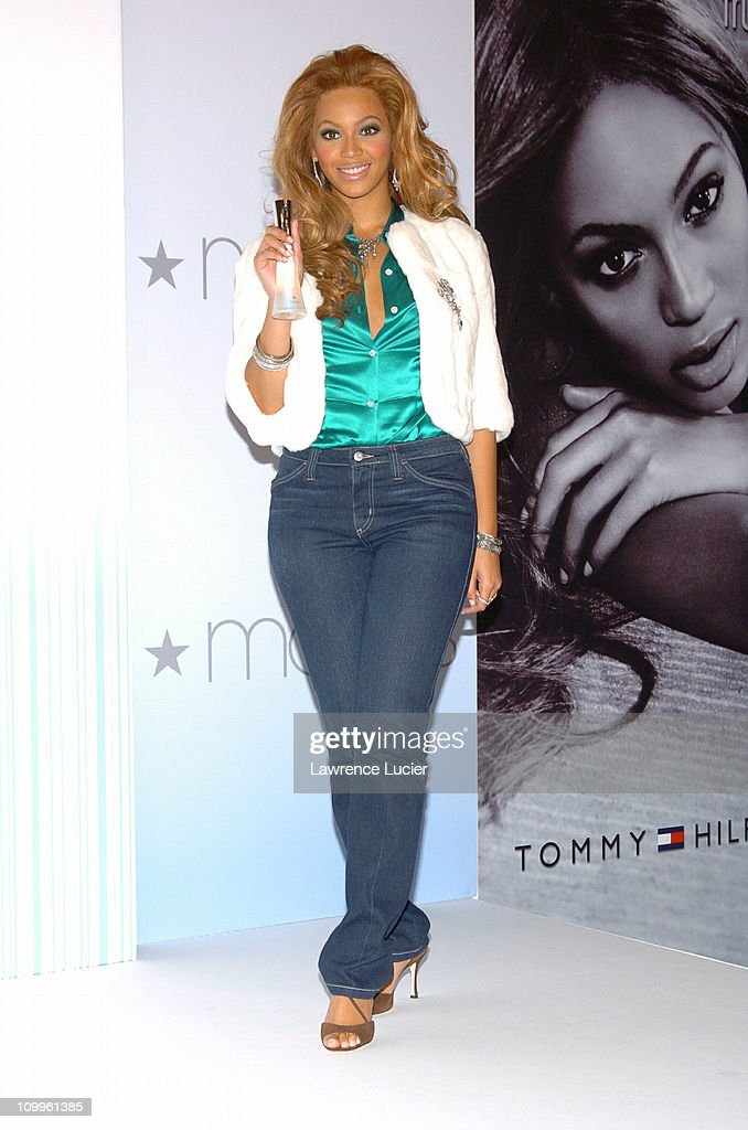 Beyonce Knowles during Tommy Hilfiger Teams with Beyonce to Release New Fragrance True Star at Macys in New York City New York United States
