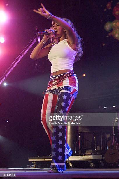 Beyonce Knowles of Destiny's Child at United We Stand What More Can I Give Concert A music benefit in support of the recovery efforts from the...