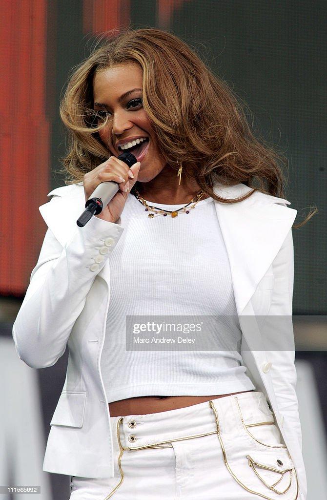 Beyonce Knowles of Destiny's Child during LIVE 8 - Philadelphia - Show at Philadelphia Museum of Art in Philadelphia, Pennsylvania, United States.
