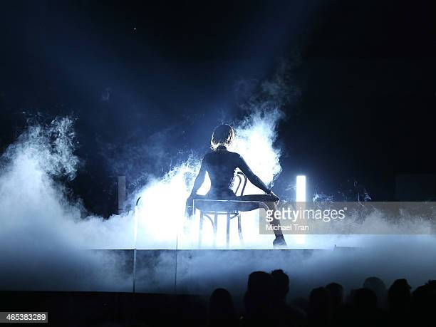 Beyonce Knowles performs onstage during the 56th GRAMMY Awards held at Staples Center on January 26 2014 in Los Angeles California