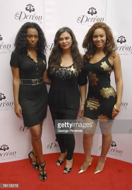 Beyonce Knowles with mother Tina Knowles and sister Solange Knowles attend the Ultra Supper Club in Toronto for the Canadian launch of their junior...