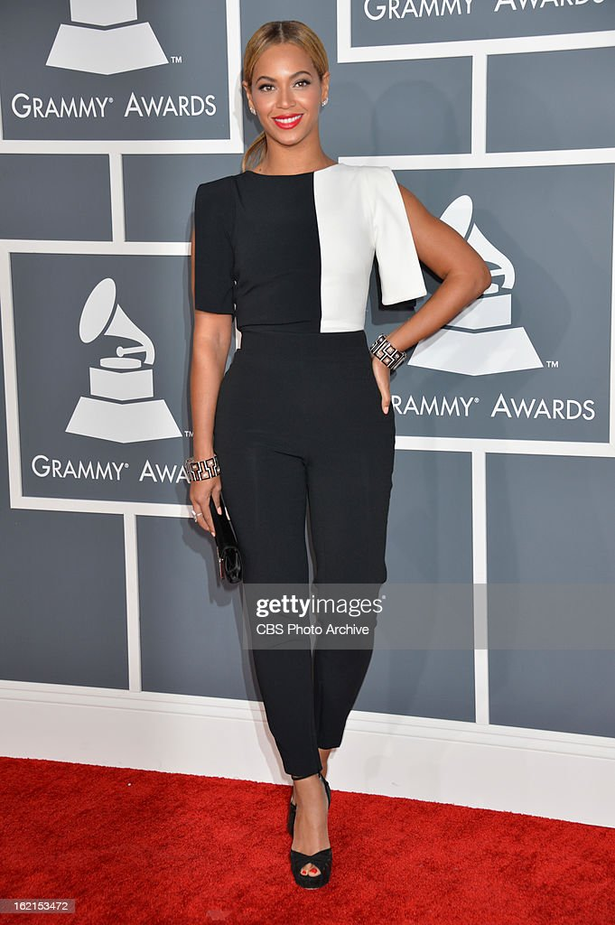Beyonce on the red carpet at THE 55TH ANNUAL GRAMMY AWARDS The music industry's premier event will take place Sunday Feb 10 at STAPLES Center in Los...