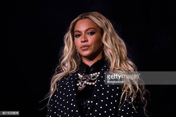 Beyonce performs at a concert for Democratic Presidential candidate Hillary Clinton November 4 2016 in Cleveland OH