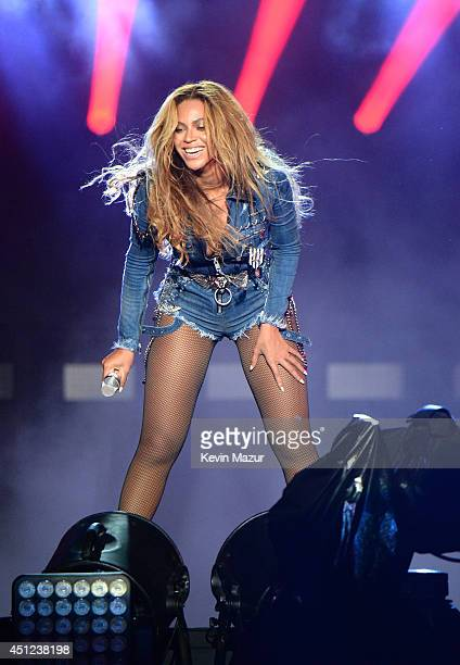 Beyonce performs during opening night of the 'On The Run Tour Beyonce And JayZ' at Sun Life Stadium on June 25 2014 in Miami Gardens Florida