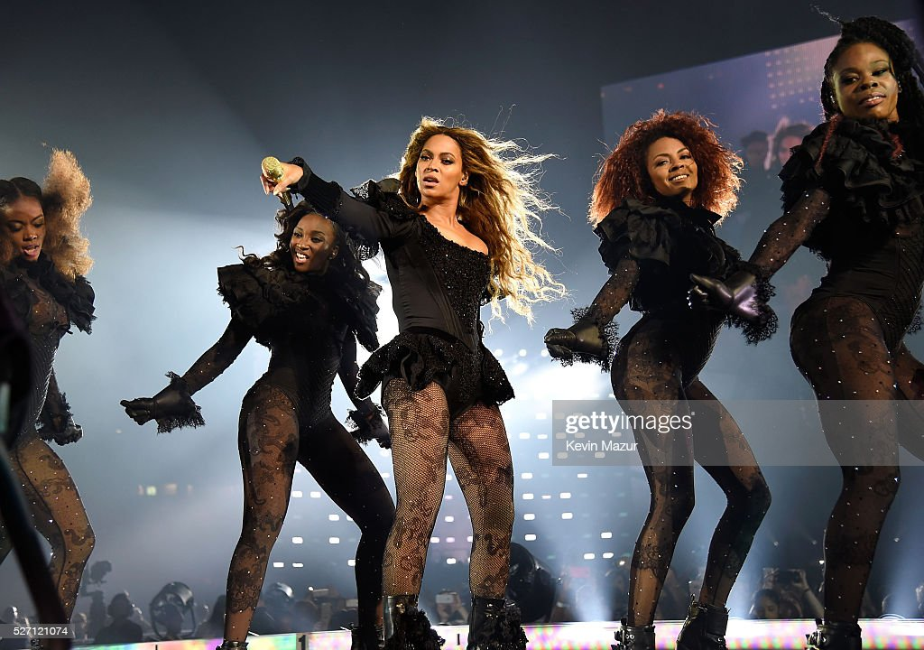 Beyonce performs during the Formation World Tour at the Georgia Dome on May 01 2016 in Atlanta Georgia Beyonce wears a custom lace corset and...