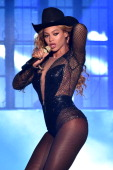 Beyonce performs during the 'On The Run Tour Beyonce And JayZ' at Minute Maid Park on July 18 2014 in Houston Texas