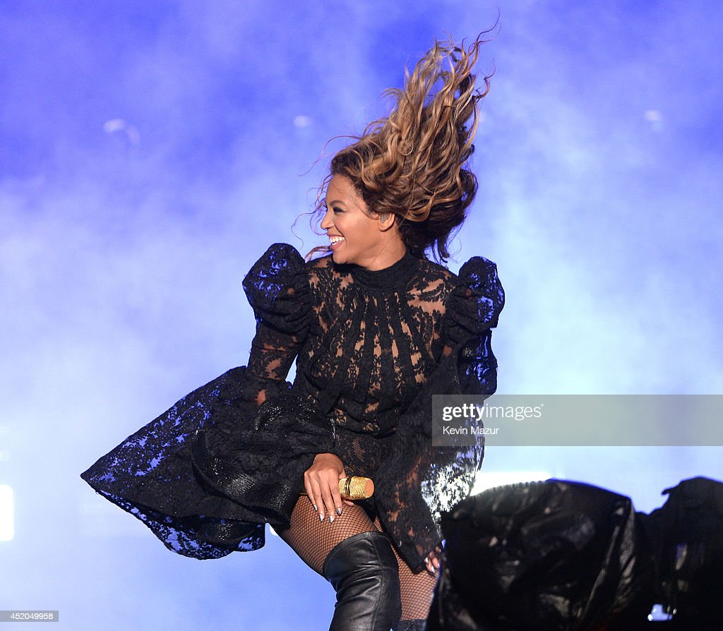 Beyonce performs during the 'On The Run Tour Beyonce And JayZ' at MetLife Stadium on July 11 2014 in East Rutherford New Jersey