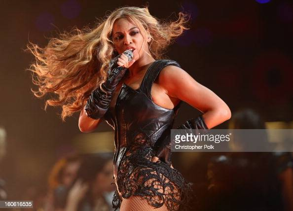 Beyonce performs during the Pepsi Super Bowl XLVII Halftime Show at MercedesBenz Superdome on February 3 2013 in New Orleans Louisiana