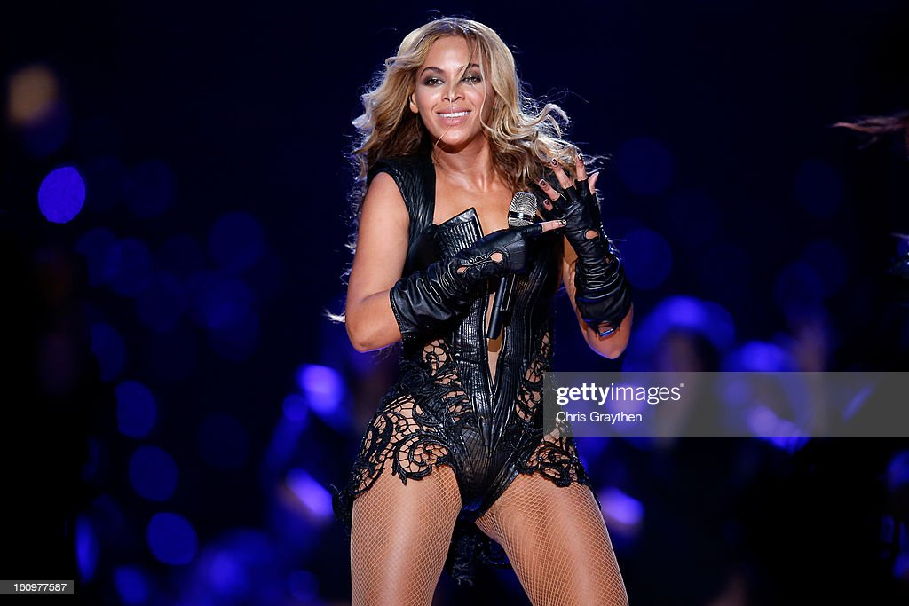 Beyonce performs during the Pepsi Super Bowl XLVII Halftime Show at the Mercedes-Benz Superdome on February 3, 2013 in New Orleans, Louisiana.