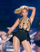 Beyonce performs live as she headlines the Virgin Media Stage on day 1 of V Festival at Hylands Park on August 17 2013 in Chelmsford England