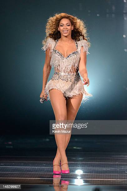 Beyonce performs on stage at Ovation Hall at Revel on May 25 2012 in Atlantic City New Jersey