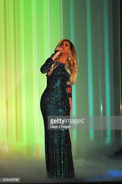 Beyonce performs onstage at The BRIT Awards 2014 at The O2 Arena on February 19 2014 in London England