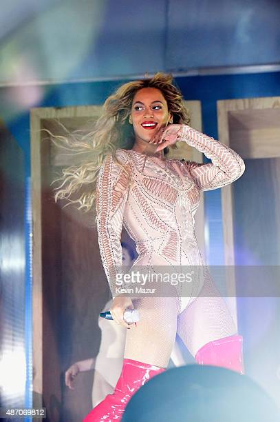 Beyonce performs onstage during the 2015 Budweiser Made in America Festival at Benjamin Franklin Parkway on September 5 2015 in Philadelphia...