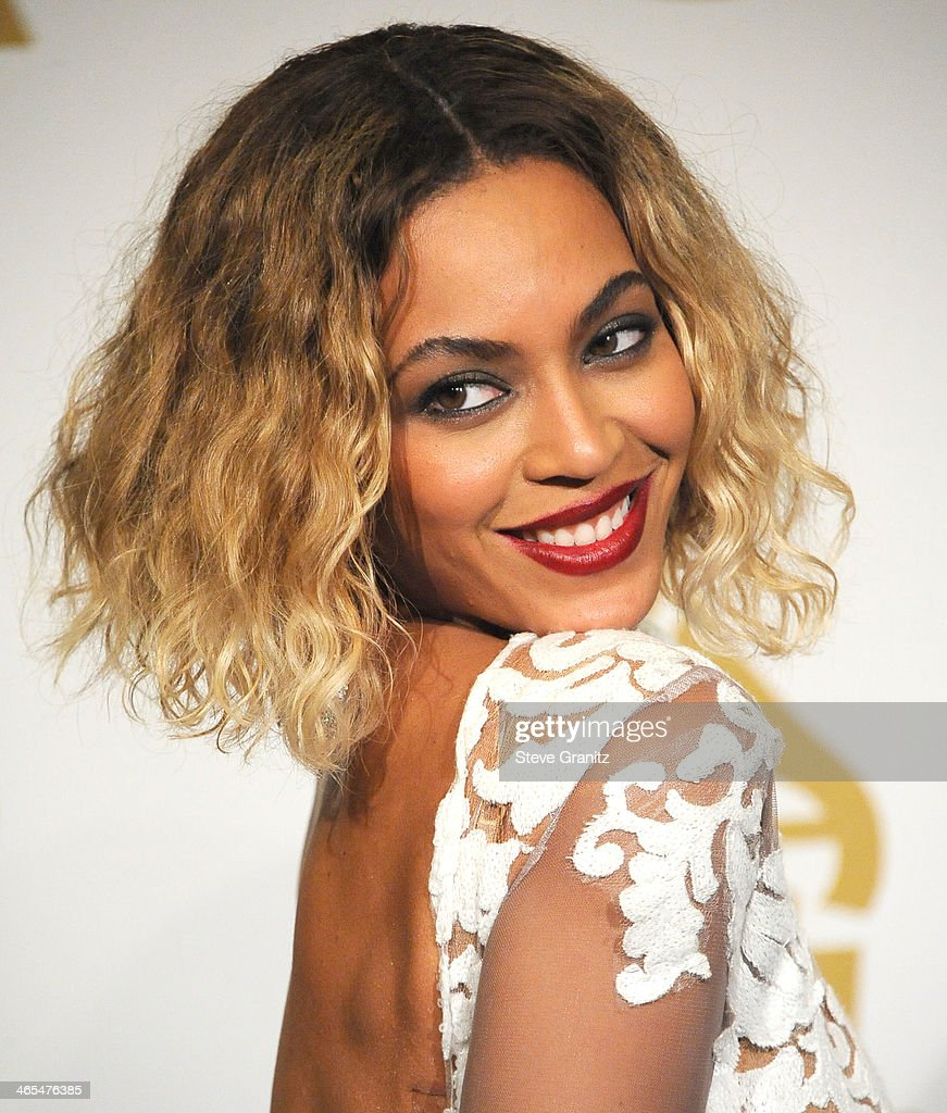 Beyonce poses at the 56th GRAMMY Awards on January 26, 2014 in Los Angeles, California.