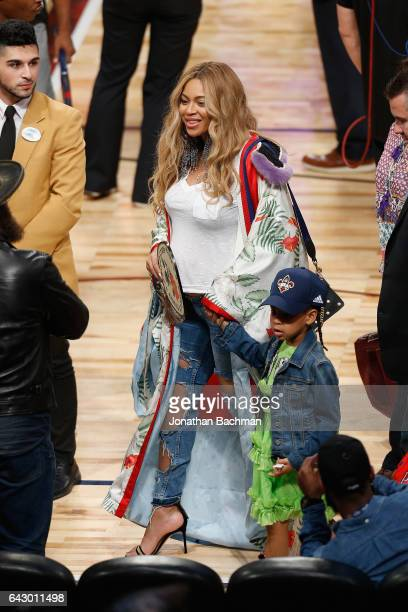Beyonce reacts after the 2017 NBA AllStar Game at Smoothie King Center on February 19 2017 in New Orleans Louisiana NOTE TO USER User expressly...