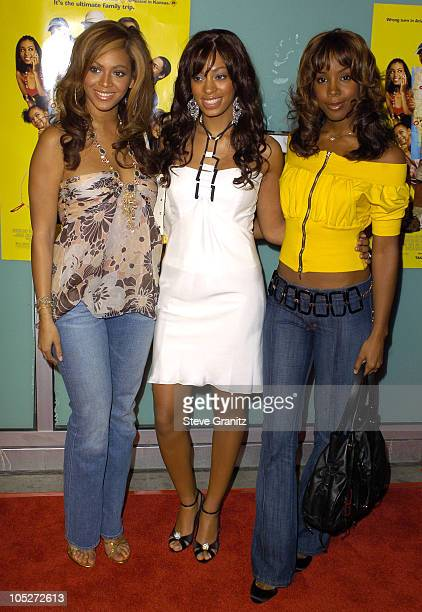 Beyonce Solange Knowles and Kelly Rowland during 'Johnson Family Vacation' Los Angeles Premiere at Cinerama Dome in Hollywood California United States