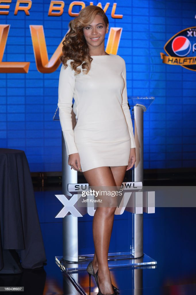 Beyonce speaks at the Pepsi Super Bowl XLVII Halftime Show Press Conference at the Ernest N Morial Convention Center on January 31 2013 in New...