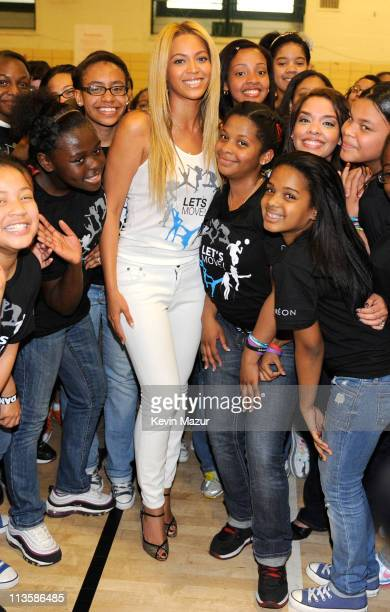 Beyonce surprises students at PS/MS 161 in Harlem as part of First Lady Michelle Obama's 'Let's Move' initiative to fight childhood obesity The...