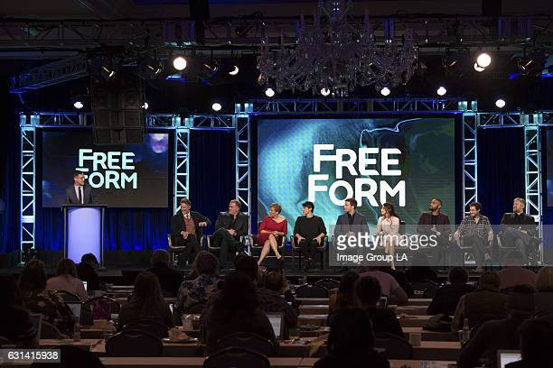 TOUR 2017 'Beyond' Session The cast and executive producers of 'Beyond' addressed the press at Disney | ABC Television Group's Winter Press Tour 2017...
