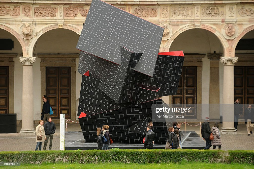 'Beyond the wall' by Daniel Libeskind is displayed during 'Hybrid Architecture & Design' at Universita degli Studi on April 9, 2013 in Milan, Italy.