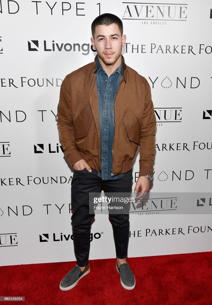 Beyond Type 1 Co-Founder Nick Jonas attends Beyond LA Cocktail Party Benefiting Beyond Type 1 at The Avenue on May 5, 2017 in Hollywood, California.