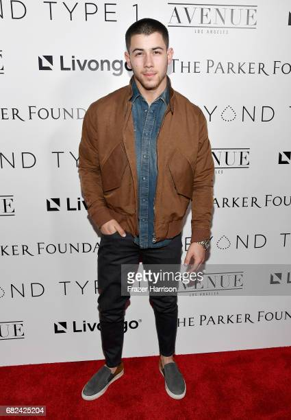 Beyond Type 1 CoFounder Nick Jonas attends Beyond LA Cocktail Party Benefiting Beyond Type 1 at The Avenue on May 5 2017 in Hollywood California