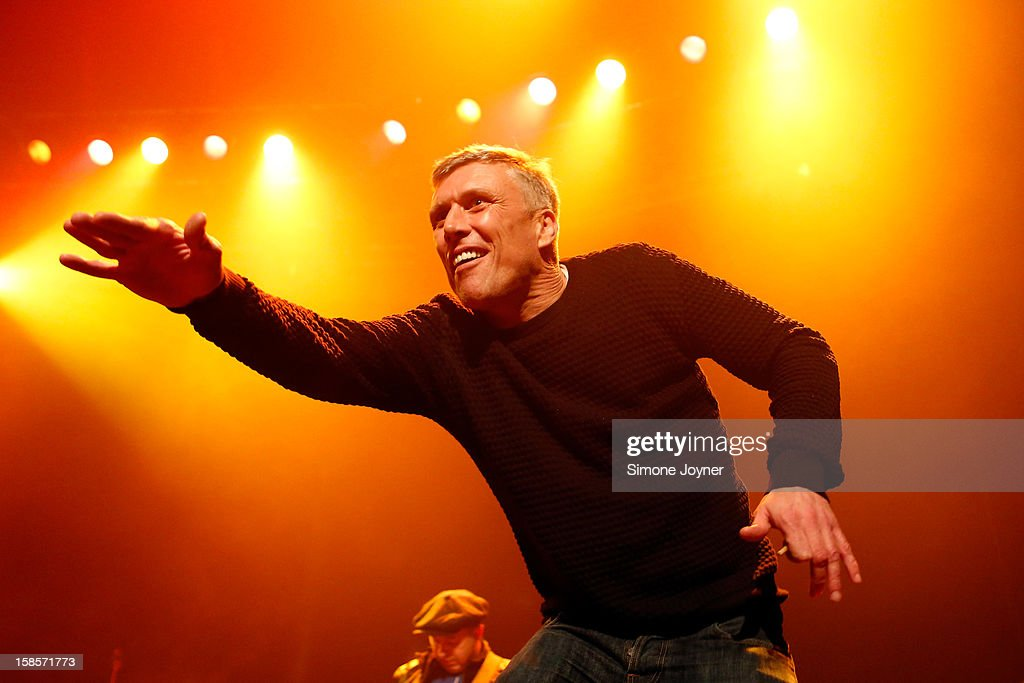 Bez of The Happy Mondays performs live on stage at The Roundhouse on December 19, 2012 in London, England.