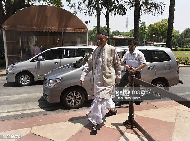 Bhagat Singh Koshyari arrives for the Parliament Session at Parliament House on May 11 2016 in New Delhi India Cutting across party lines Lok Sabha...