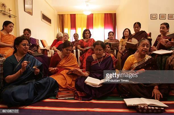 Bhajan group Bhajan Mandali Women Group of women belonging to Saankari sing devotional songs at a house in Worli