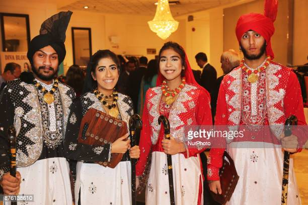 Bhangra dancers wait to perform during the Langar Seva fundraising gala in Mississauga Ontario Canada on 17 November 2017 Langar Seva is a community...