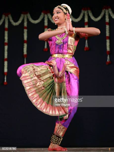 Bharat Natyam dancer performing
