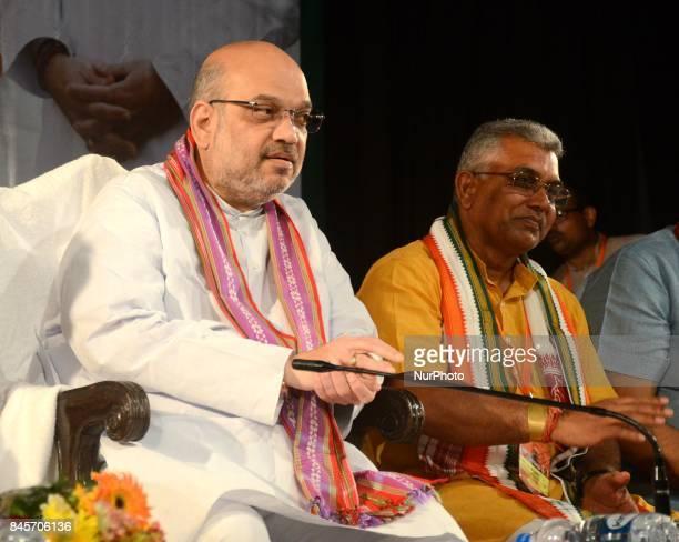 Bharatiya Janata Party National President Amit Shah during the party meeting in Kolkata India on Monday 11th September 2017
