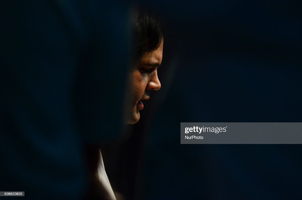 Bhartiya Janta Party's leader Mr. Varun Gandhi speaks during a student summit ,during his 2 days visit,in Allahabad on April 30,2016. Varun Gandhi is a member of Lok Sabha, the lower house of Parliament of India, representing the Sultanpur constituency. He is a member of the Bharatiya Janata Party National Executive and the youngest National Secretary in the history of the party.