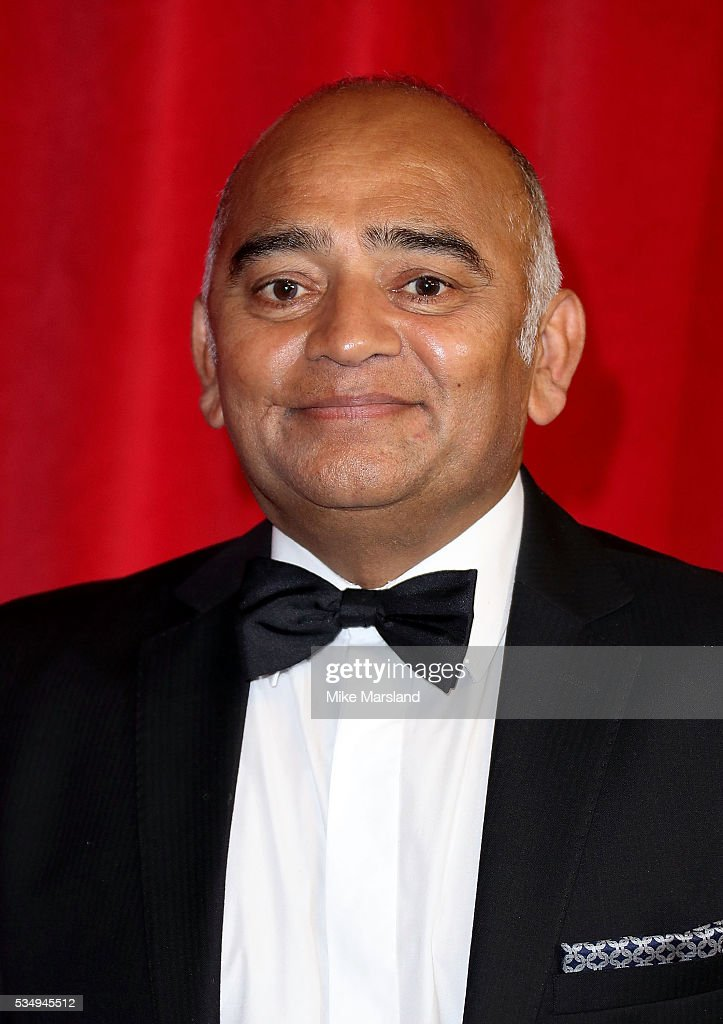 Bhasker Patel attends the British Soap Awards 2016 at Hackney Empire on May 28, 2016 in London, England.