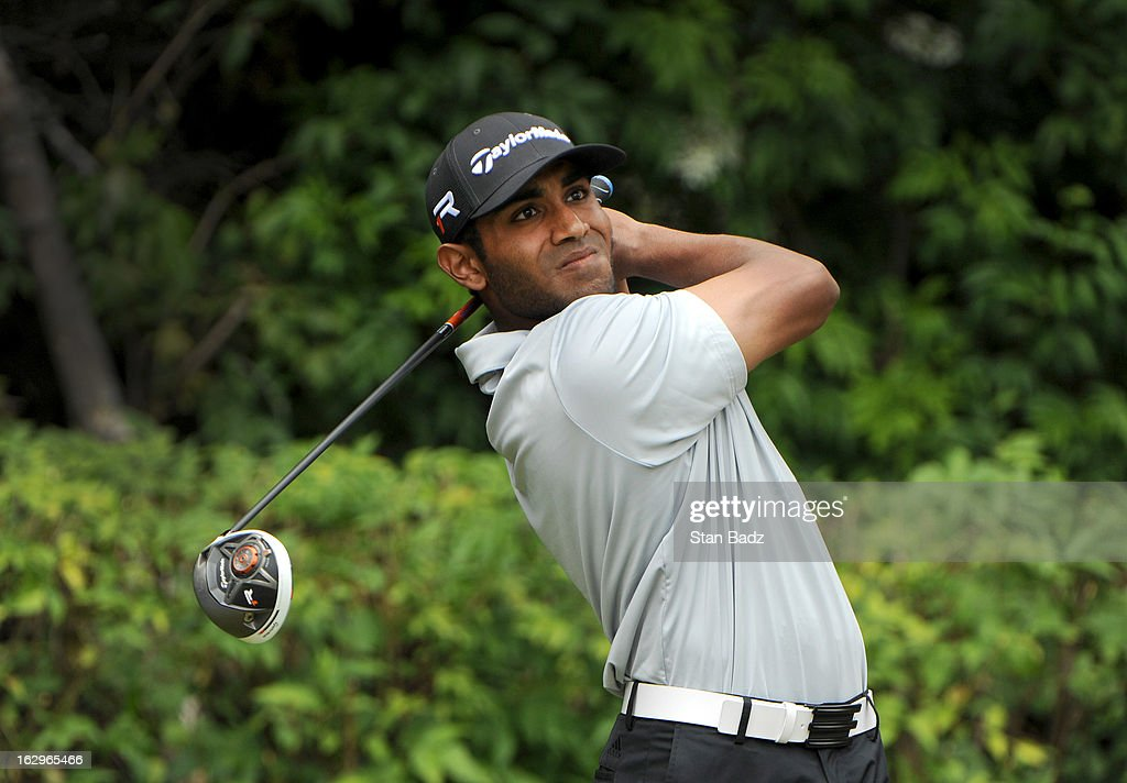 Bhavik Patel hits a tee shot on the third hole during the third round of the Colombia Championship at Country Club de Bogota on March 2, 2013 in Bogota, Colombia.