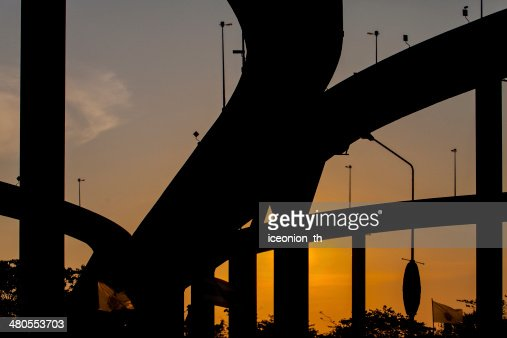 Bhumibol Bridge in Thailand : Stock Photo