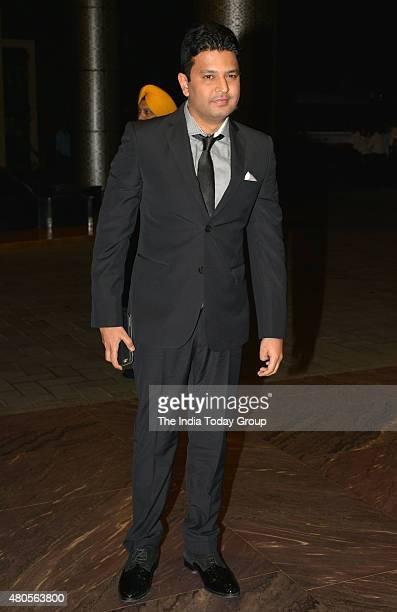 Bhushan Kumar at the wedding reception of Shahid Kapur and Mira Rajput in Mumbai