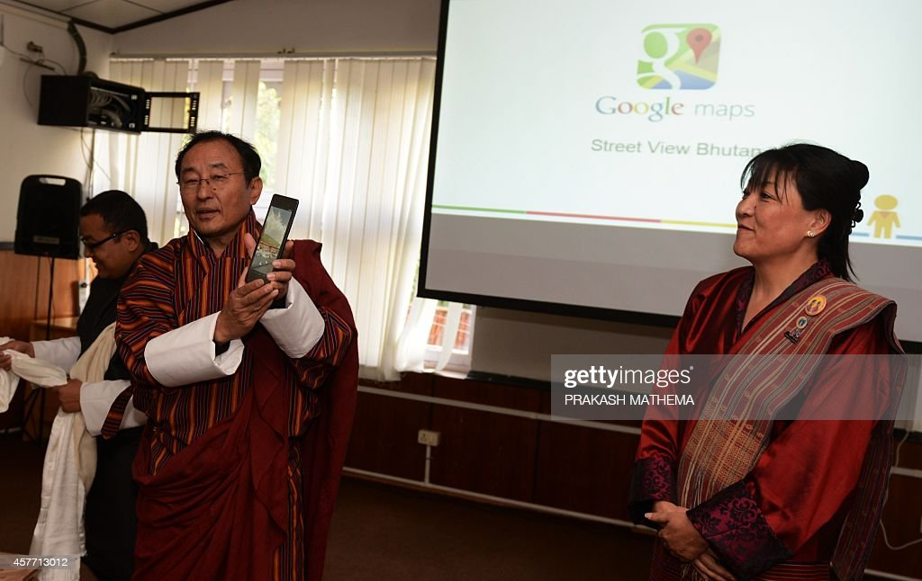 Bhutan Information and Communication secretary Dasho Kinley Dorji and Director of the Bhutan Tourism Council Chhimmy Pen speak during the launch of...